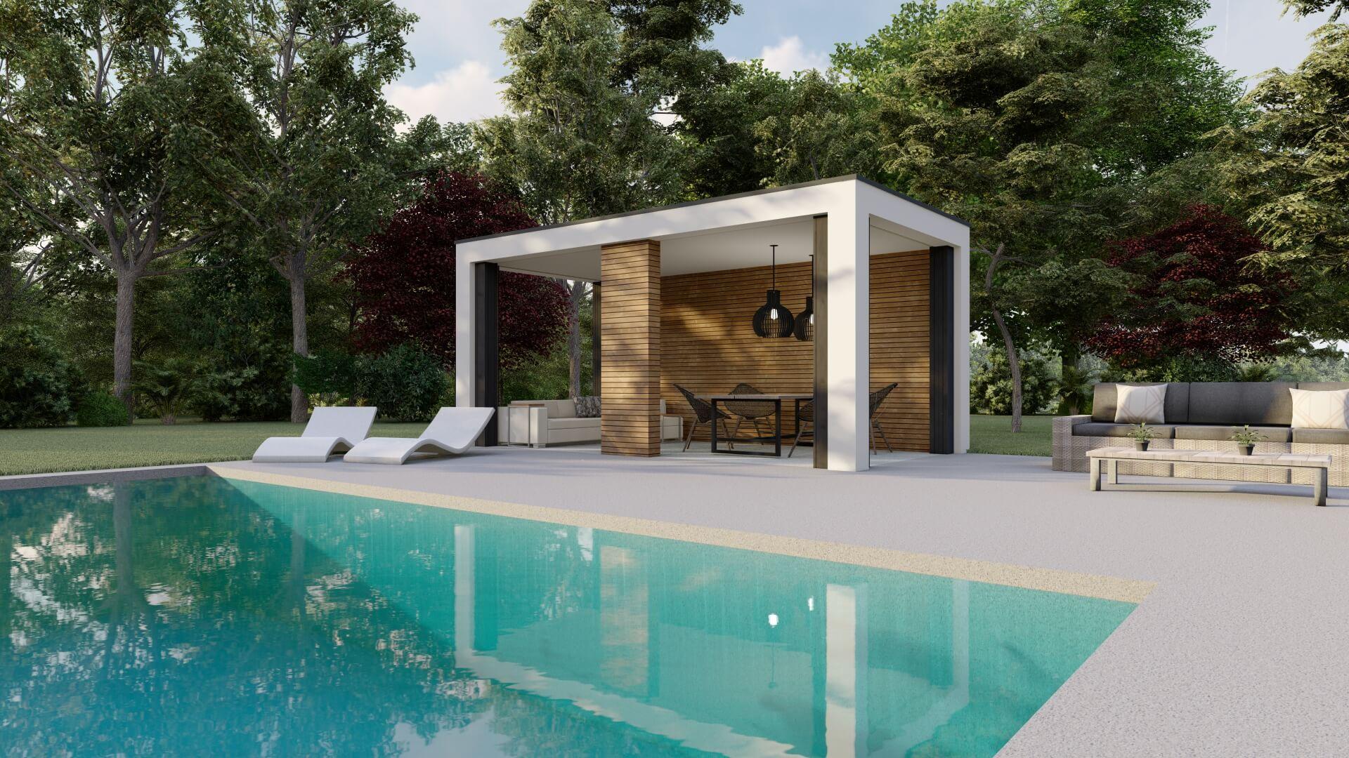Poolhouse 3x6_zijwanden zonder glas